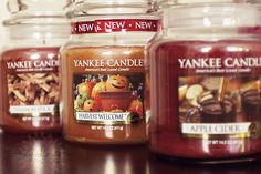 Fall Yankee candles, love seeing the new displays!