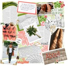"""""""All About Me Scrapbook Page"""" by chloeadorable25 ❤ liked on Polyvore"""