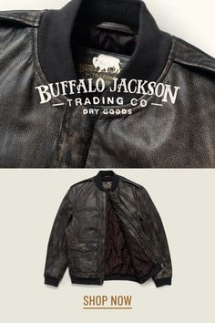 We love this distressed black leather bomber jacket for men — the vintage style brings a classic, rugged look to any outfit. These jackets are an easy choice when they look and feel this good! Mens Leather Bomber Jacket, Leather Jackets, Vintage Style, Vintage Fashion, Rugged Look, Men's Leather, Mens Fashion, Classic, How To Wear