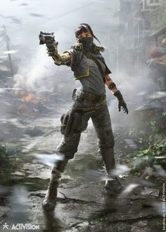 sekigan: ArtStation - Black Ops III - Gunslinger, karakter design studio