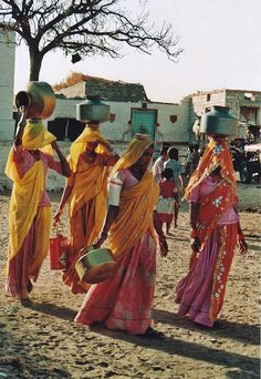 Rajasthan India.  Wherever we went in the country side, women were working, carrying water, fixing food, cleaning, etc.