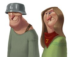 old bones characters on Behance
