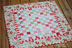 Easy Patchwork Baby Quilt