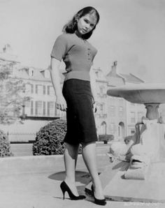 Yvonne Craig.  Love love LOVE the skirt!!!  #fb