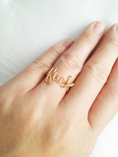 "This delicate wire ring — $8 | 16 Cute Gifts For Everyone Who Is Obsessed With The Word ""Fuck"""