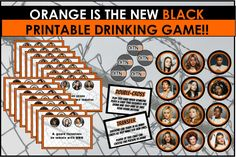 Orange is the New Black party games will help you and your girl friends celebrate women's prison style! Drinking Games Without Cards, Funny Drinking Games, Drinking Games For Parties, Funny Games, Fun Party Themes, Casino Theme Parties, Casino Party, Party Games, Vegas Party