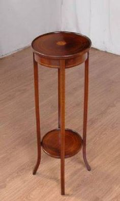 1890s Vintage Tall Plant Stand Table W Marble Top