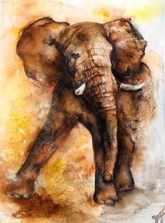 Elephant painting by ~Djoicie on deviantART