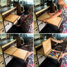 My latest creation... Full pull out table for the #vanagon with storage built in  #vanlife #vanagonlife #builtnotbought
