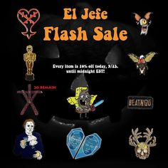 #Repost @eljefepins  Starting now!! In celebration of reaching 2000 followers we've decided to give you all a heck of a flash sale. Everything is on sale from now until midnight Friday night. We're running super low on Blair witch pins and some of these other pins are selling fast too so now is the opportunity for you to snag yourself some awesome pins at a discount price!!  #pin #pins #enamelpins #lapelpins #pingame #pincommunity #pincollector #pinstagram #pinsogig #pinsofinstagram…