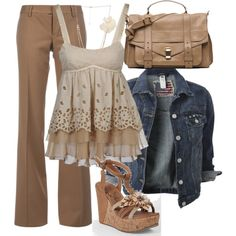 """Khaki"" by bayelle on Polyvore"