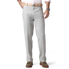 Dockers® Comfort-Waist D3 Classic-Fit Full-Elastic Flat-Front Pants - Men, Size: 30X30, Grey