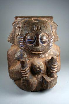 Ritual Mortar: Figures, Yoruba peoples, Nigeria, 19th-20th century. Metropolitan Museum of Art, online collection.