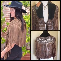 TEZARI ✌️ Suede  Leather Capelet NWT Utterly luxe, absolutely bohemian... Truly unique!  This gorgeous suede shawl is incredible   Silk blend macrame style trim in black / brown blend with black super soft rich suede panels.  Handmade in California. NWT. OSFM. Professional leather clean recommended. Tezari Accessories Scarves & Wraps