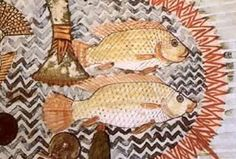 Ancient Egyptians ate fish from the Nile River.