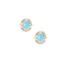 Sterling Silver Southwestern Oval Stud Earrings