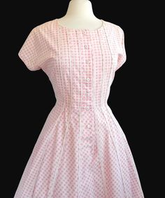 #bombshell #rockabilly #1950s Pretty in Pink cotton gingham  by 86CharlotteStreet on Etsy, $89.00