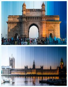Richard Silver is using photography to show how iconic buildings change in appearance from day to night. Throughout the day, Silver snaps around 35 photos from the same spot, later combining them into a single composite image.