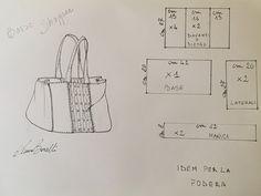 Come realizzare la borsa shopper – Anna Borrelli Potli Bags, Blog Couture, Diy Tote Bag, Diy Handbag, Handmade Purses, Bag Patterns To Sew, Denim Bag, Shopper Bag, Cloth Bags