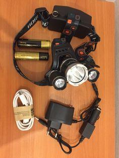 Super Bright Boruit RJ-5000 Head Torch 6000 Lumens 3 Cree XML-L2 LED Headlamp He