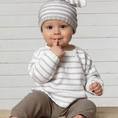Børne - Baby jakke m. Baby Knitting, Knitting Patterns, Bamboo, Turtle Neck, Children, Crochet, Cute, Sweaters, Fashion