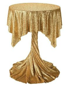 Cocktail table with gold sequence tablecloth Wedding Chairs, Wedding Table, Diy Wedding, Cocktail Table Decor, Cocktail Tables, Great Gatsby Party, Banquet Tables, Wedding Decorations, Table Decorations
