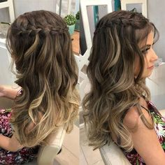 hairstyles prom videos hairlook braids hairlook wedding braids hairlook easy braids hairlook easy pin by sara lawson on hairstyle in 2019 easy hairstyles longhair pin by sara lawson on hairstyle in 2019 Braided Prom Hair, Hairdo For Long Hair, Prom Hairstyles For Long Hair, French Braid Hairstyles, Box Braids Hairstyles, Wedding Hairstyles, Prom Hair With Braid, Long Prom Hair, Teenage Hairstyles