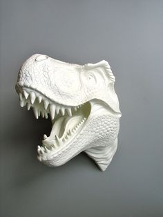 Faux Taxidermy T Rex Dinosaur Head Wall Mount: Toby the T Rex. $160.00, via Etsy.