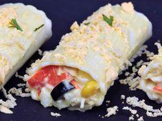 Canelones de verano Chicken Salad Recipes, Empanadas, Quinoa, Sushi, Ethnic Recipes, Food, Pastel, Primers, Crepes