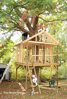 best of tree house plans for kids and kids plans home design free and fresh of t. best of tree house plans for kids and kids plans home design free and fresh of tree houses play fro Backyard Treehouse, Building A Treehouse, Backyard Trees, House Building, Beautiful Tree Houses, Cool Tree Houses, Unique Trees, Small Trees, Simple Tree House