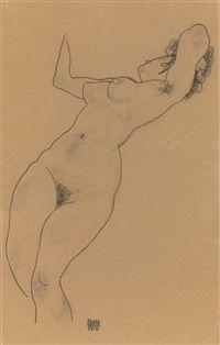 Reclining Nude by Egon Schiele