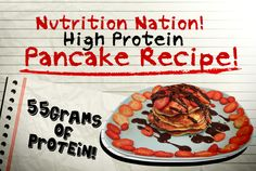 High Protein PANCAKES! 55grams of protein!