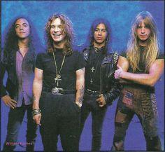 Ozzy Osbourne, Zakk Wylde, Randy Castillo and Mike Inez, 1992