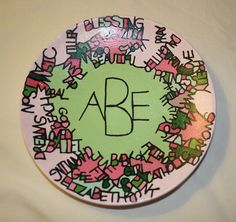 This plate describes a special person in your life and turns your words into a lovely mosaic! This is a custom plate. Part art, part puzzle! You pick the colors! You choose the words! (I can use initials or name/names in the center of the plate.) This is the perfect gift for a loved one, teacher, coach, etc.     FOR DECORATIVE PURPOSES ONLY!    http://www.etsy.com/shop/familymosaic $22.00