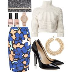chic en hiver by souchi26 on Polyvore featuring polyvore fashion style Brunello Cucinelli Jimmy Choo Chanel ALDO Bobbi Brown Cosmetics