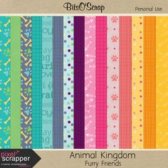 FREE Pixel Scrapper March 2015 Blog Train – Animal Kingdom : Furry Friends By Bits O'Scrap