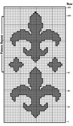 Craftdrawer Crafts: Free Crochet Fleur-de-Lis Fanfare Afghan Pattern