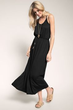 Esprit / boho maxi dress in stretch jersey