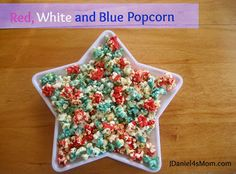 Red,White and Blue Popcorn