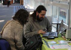 Our computer expert helping students fix their tech at Heriot-Watt University.