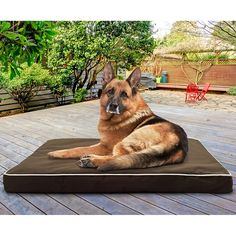 Dogs deserve a place to rest outdoors also check out the Furhaven Weather-resistant Indoor/Outdoor Deluxe Orthopedic Pet Bed