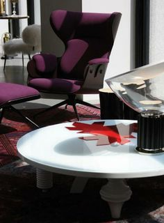 Lounger and Multileg low table by Jaime Hayon in DDC Domus Design Collection, New York. -Bd Barcelona design-