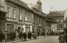 Husova ulice 1939 | Archiv Vladimír Serbus Czech Republic, Street View, Historia, Archive