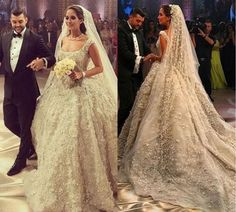 44 Luxury Floral Gown for Interesting Wedding Planner - Fashionmgz Luxury Wedding Dress, 2015 Wedding Dresses, Wedding Dress Shopping, Wedding Gowns, Pakistani Bridal Dresses, Bridal Gowns, Wedding Dress Pictures, Floral Gown, Ball Gowns