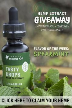 "Welcome to our Free Hemp Giveaway Each week we will host a giveaway for our ""Flavor of the Week"". From vanilla to spearmint and everything in between, you'll get to try the latest and greatest flavors from US Hemp Wholesale. #hemp #giveaways #hempgiveaways #alternativehealth #healthyliving"