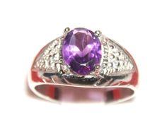 Online veilinghuis Catawiki: Zilveren ring met Amethist edelsteen