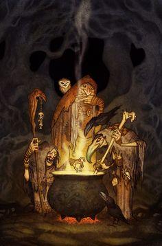 Witches, Johan Egerkrans on ArtStation at https://www.artstation.com/artwork/Lx13r