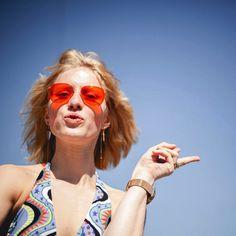 KAIBOSH | OUTTASIGHT! in ACID ADDICTION seen on Couturekulten. Get yours now on www.kaibosh.com Scandinavian Festival, Festival Fashion, Cat Eye Sunglasses, Eyewear, Addiction, Eyes, Style, Glasses