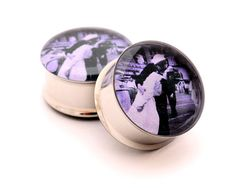 Kiss at Times Square Picture Plugs gauges  by mysticmetalsorganics, $19.99