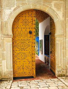 Yellow Door I by Todor Kamenov 石拓, via Flickr ~ Tunisia